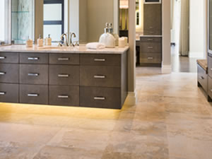 Beautifully restored limestone floor